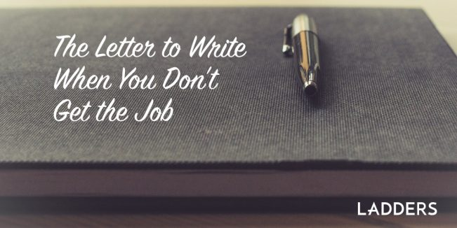 The letter to write when you don't get the job